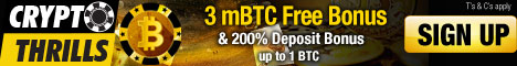 Unique offer from CryptoThrills - Get a 3 mBTC Free Bonus on sign up to try our newest game releases